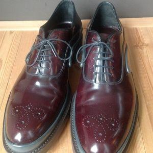 Prada Shoes - Men's PRADA Runway New Cordovan Leather/Rubber